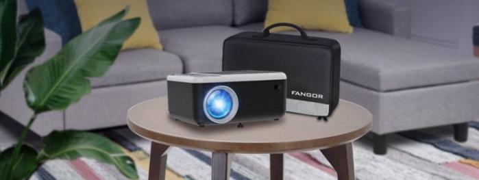 proyector fangor con pantalla incluida